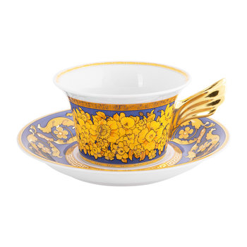 25th Anniversary Floralia Blue Teacup & Saucer - Limited Edition