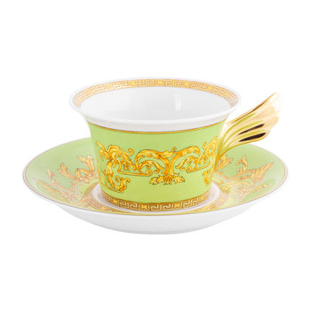 25th Anniversary Floralia Green Teacup & Saucer - Limited Edition