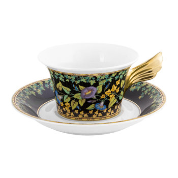 25th Anniversary Gold Baroque Teacup & Saucer - Limited Edition