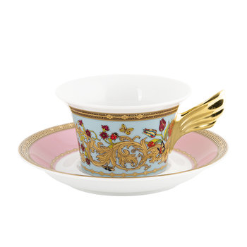 25th Anniversary Le Jardin De Versace Teacup & Saucer - Limited Edition