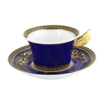 25th Anniversary Medusa Blue Teacup & Saucer - Limited Edition
