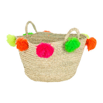 Bahia Pom Pom Magazine Holder - Multicolour