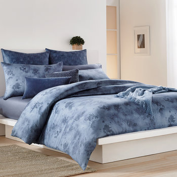 Mohair Look Throw - Blue