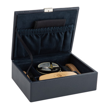 Howard Leather Shoe Shine Kit - Navy
