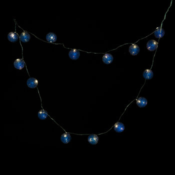 Bolette Mini String Lights - Balls - Metal Blue