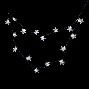Bolette Mini String Lights - Stars - Silver