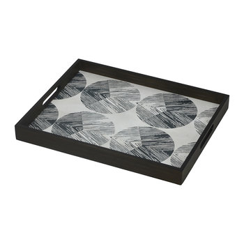 Chevron Driftwood Tray - Rectangular - Small