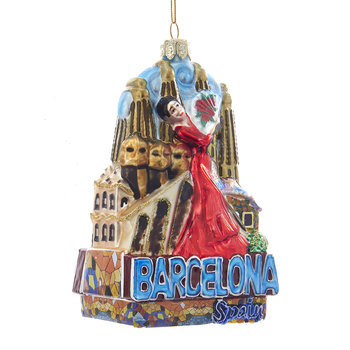 Barcelona City Glass Tree Decoration