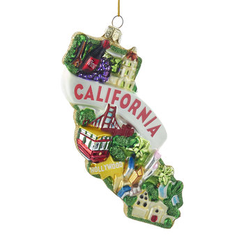 California City Glass Tree Decoration