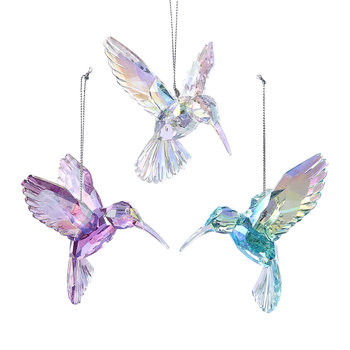 Iridescent Hummingbird Tree Decorations - Set of 3