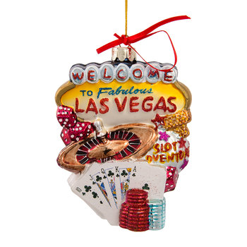 Las Vegas City Glass Tree Decoration