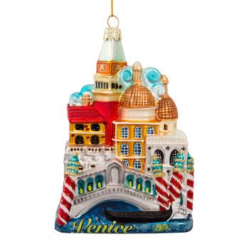 Venice City Glass Tree Decoration