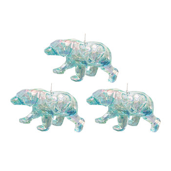 Iridescent Bear Tree Decorations - Set of 3
