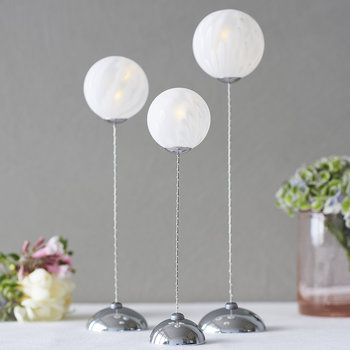 New Cloudy Trio Lights - White/Silver - Set of 3