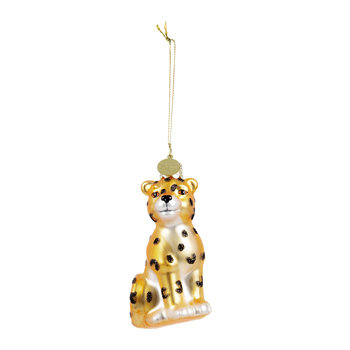 Baby Panther Tree Decoration - Gold