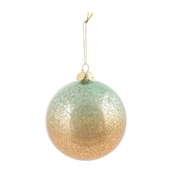 Glass Speckled Christmas Tree Bauble - Mercury/Bronze
