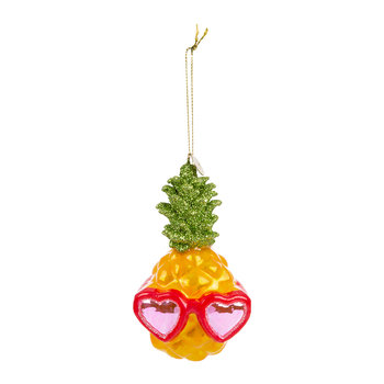 Pineapple Heart Sunglasses Tree Decoration - Yellow