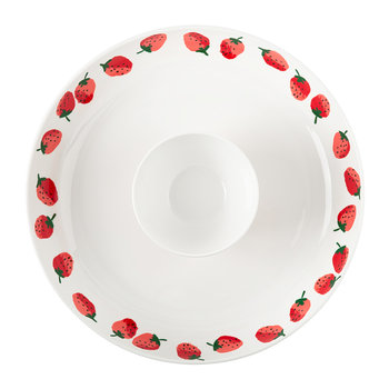 Strawberries Chip & Dip Bowl - 2 Piece Set