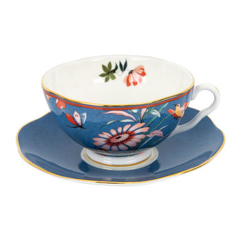 Paeonia Teacup & Saucer - Blue