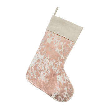 Hide Stocking - Natural & Copper