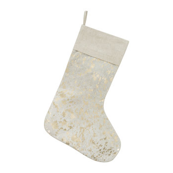 Hide Stocking - Natural & Gold