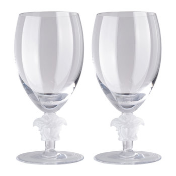 Medusa Lumiere 2nd Edition White Wine Glasses - Set of 2 - Clear
