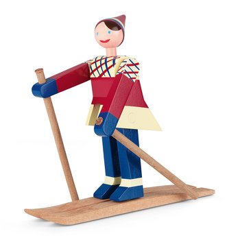 Datti The Girl Skier Wooden Toy