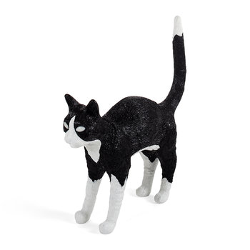 Jobby the Cat Rechargeable Lamp - Black/White