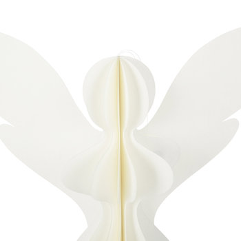 Paper Angel Decorative Ornament - Ivory