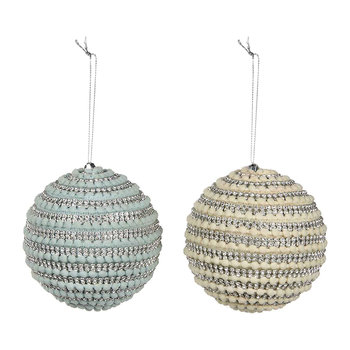 Mini Pom-Pom Jewel Baubles - Set of 2