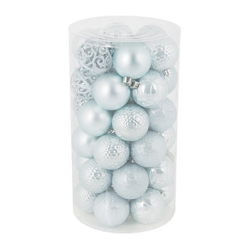 Set of 37 Assorted Baubles - Blue Mist