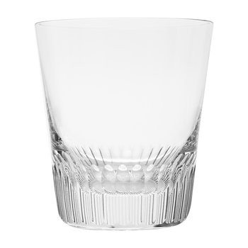 Conus Double Old Fashioned Tumbler - Cut Grooves - Clear