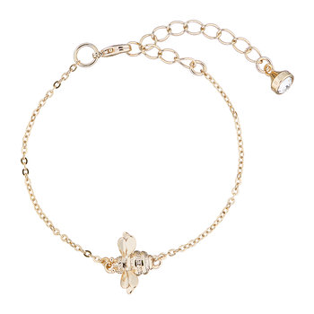 Beedina Bumble Bee Bracelet - Brushed Pale Gold