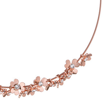 Hadriaa Heart Blossom Necklace - Rose Gold