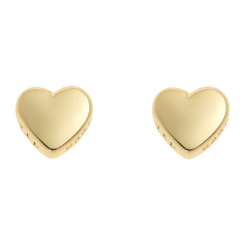 Harly Tiny Heart Stud Earrings - Gold