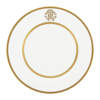 Silk Gold Dessert Plates - Set of 6