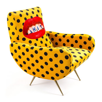 Upholstered Wooden Armchair - Sh*t