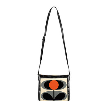 Tarpaulin Flower Oval Stem Cross Body Bag - Granite