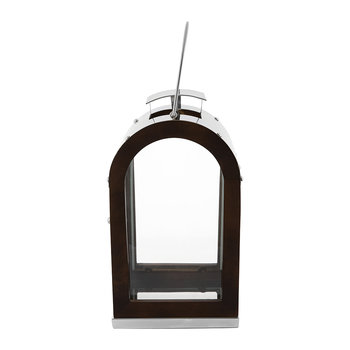 Wooden Lantern with Metal Top
