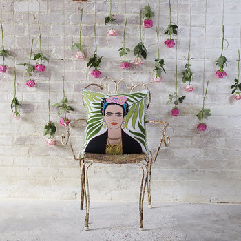 Tropical Frida Cushion - 46x46cm - Cream