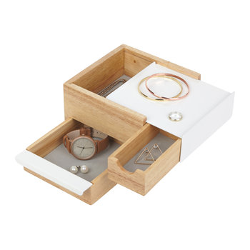 Mini Stowit Jewelry Box - Natural/White