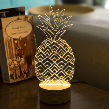 Pineapple Lamp - Glass/Plywood Birch