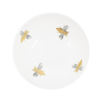 Bee Bowl - Fine Bone China - White