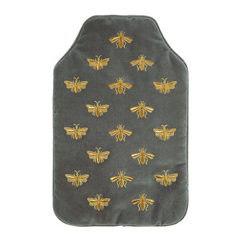 Amara X ES Velvet Bee Hot Water Bottle - Charcoal