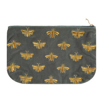 Amara X ES Velvet Bee Travel Pouch - Charcoal