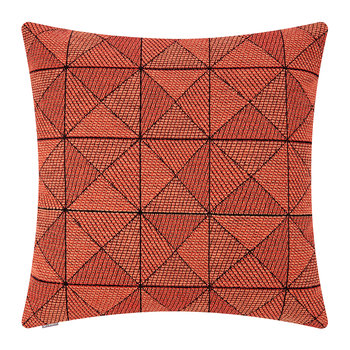 Tile Wool Cushion - 50x50cm - Tangerine