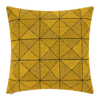 Tile Wool Cushion - 50x50cm - Yellow