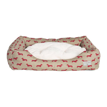 Dachshund Dog Bed - Medium - Red