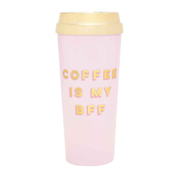 "Hot Stuff Luxus-Thermosbecher - ""Coffee Is My BFF"""