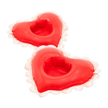 Float On Inflatable Drink Holders - Set of 2 - Sweetheart